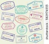 custom and travel passport... | Shutterstock .eps vector #582976555