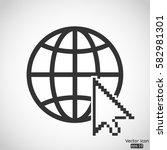 internet icon   vector ... | Shutterstock .eps vector #582981301