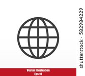 global vector icon | Shutterstock .eps vector #582984229