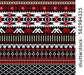 geometric ornament for weaving  ... | Shutterstock .eps vector #582984325
