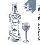hand drawn vector illustration... | Shutterstock .eps vector #582985831