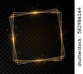 Shining Square Golden Frame....