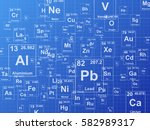 chemical elements. background... | Shutterstock .eps vector #582989317