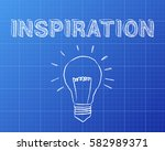 hand drawn inspiration sign and ... | Shutterstock .eps vector #582989371