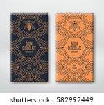 dark and milk chocolate... | Shutterstock .eps vector #582992449