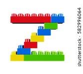 letter z plastic font alphabet...   Shutterstock . vector #582996064