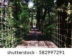 adventure on bridge in... | Shutterstock . vector #582997291