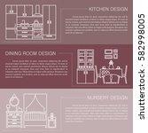 modern brochure flyer design... | Shutterstock .eps vector #582998005