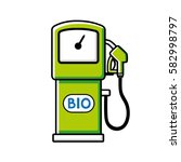 green bio fuel pump vector icon ... | Shutterstock .eps vector #582998797