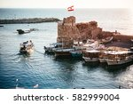 view of the boats in the... | Shutterstock . vector #582999004