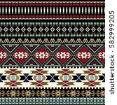 geometric ornament for weaving  ... | Shutterstock .eps vector #582999205