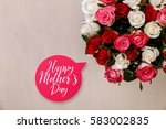 bouquet of roses background.... | Shutterstock . vector #583002835