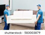 portrait of a two happy male... | Shutterstock . vector #583003879