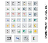 time icons set. vector... | Shutterstock .eps vector #583007107