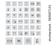 large icons set. vector...