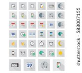 large icons set. vector... | Shutterstock .eps vector #583007155