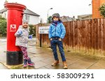 Kids In Chiswick Suburb In...