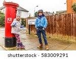 Kids In Chiswick Suburb In...