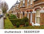 chiswick suburb in winter ... | Shutterstock . vector #583009339