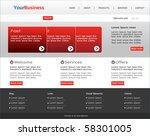 business web design template | Shutterstock .eps vector #58301005