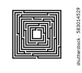 symbol of maze. | Shutterstock .eps vector #583014529