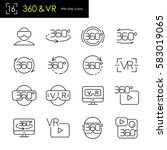 virtual reality   360 degrees... | Shutterstock .eps vector #583019065