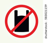no plastic symbol vector | Shutterstock .eps vector #583021159