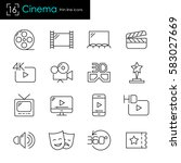cinema and movie making... | Shutterstock .eps vector #583027669