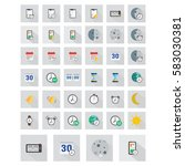 icons set. flat colored... | Shutterstock . vector #583030381