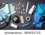 overhead shot of medical... | Shutterstock . vector #583032715