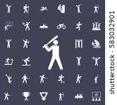 baseball player icon. sport... | Shutterstock .eps vector #583032901