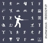 fencing icon. sport icons... | Shutterstock .eps vector #583032919