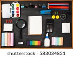 stationery on boards. concept... | Shutterstock . vector #583034821