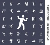 tennis icon vector illustration.... | Shutterstock .eps vector #583036051