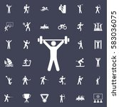 weightlifter icon. sport icons... | Shutterstock .eps vector #583036075