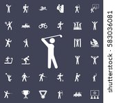golf player icon. sport icons... | Shutterstock .eps vector #583036081