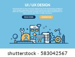 ui ux design concept for web...