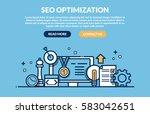 seo concept for web site. vector   Shutterstock .eps vector #583042651
