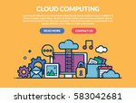 cloud computing concept for web ... | Shutterstock .eps vector #583042681