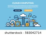 cloud computing concept for web ... | Shutterstock .eps vector #583042714