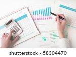 market analyze   pen and... | Shutterstock . vector #58304470