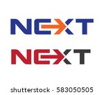 next word with arrow letter... | Shutterstock .eps vector #583050505