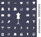 mannequin icon vector | Shutterstock .eps vector #583051651