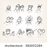12 signs of the zodiac   funny...   Shutterstock .eps vector #583052284