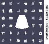 skirt icon | Shutterstock .eps vector #583056589