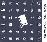 handcart icon   Shutterstock .eps vector #583056595
