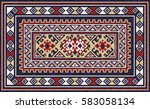 colorful oriental mosaic rug...   Shutterstock .eps vector #583058134