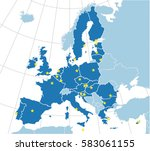 europe map with european union... | Shutterstock .eps vector #583061155
