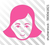 pink lady face interface... | Shutterstock .eps vector #583061821