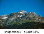 alpine mountain landscape with... | Shutterstock . vector #583067347